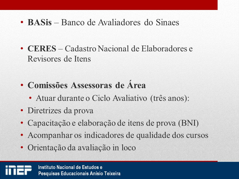 BASis – Banco de Avaliadores do Sinaes