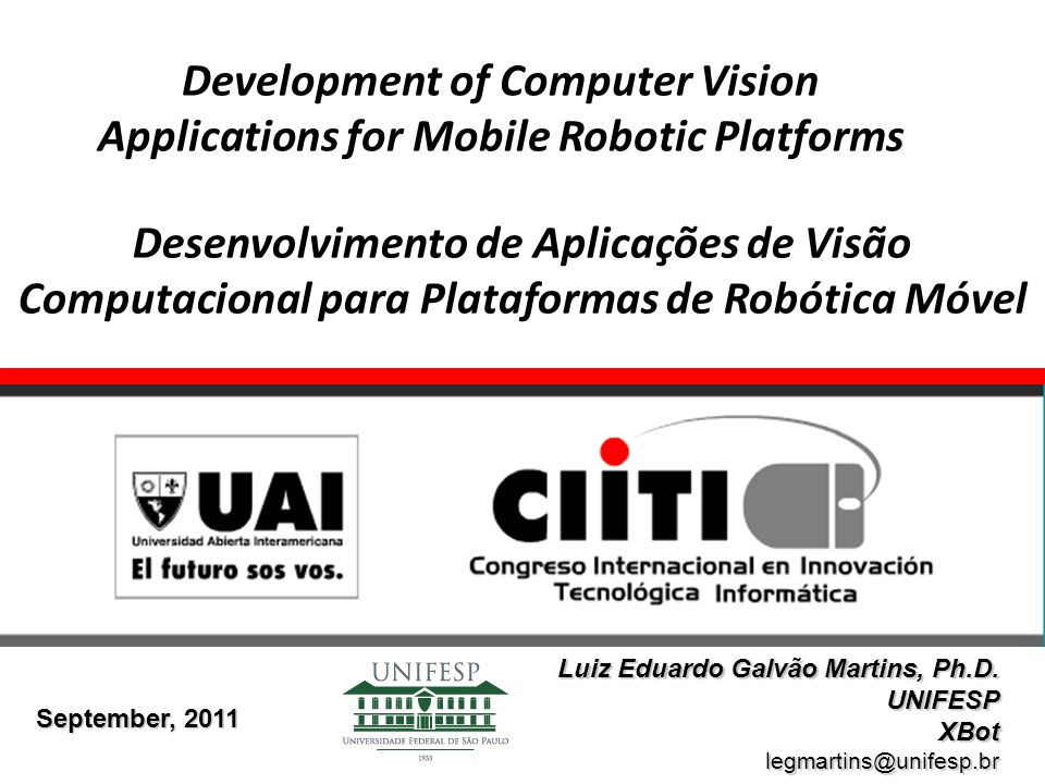 Development of Computer Vision Applications for Mobile Robotic Platforms