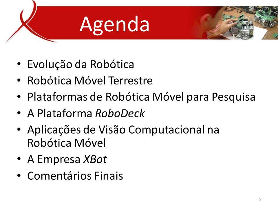 Agenda Evolução da Robótica Robótica Móvel Terrestre