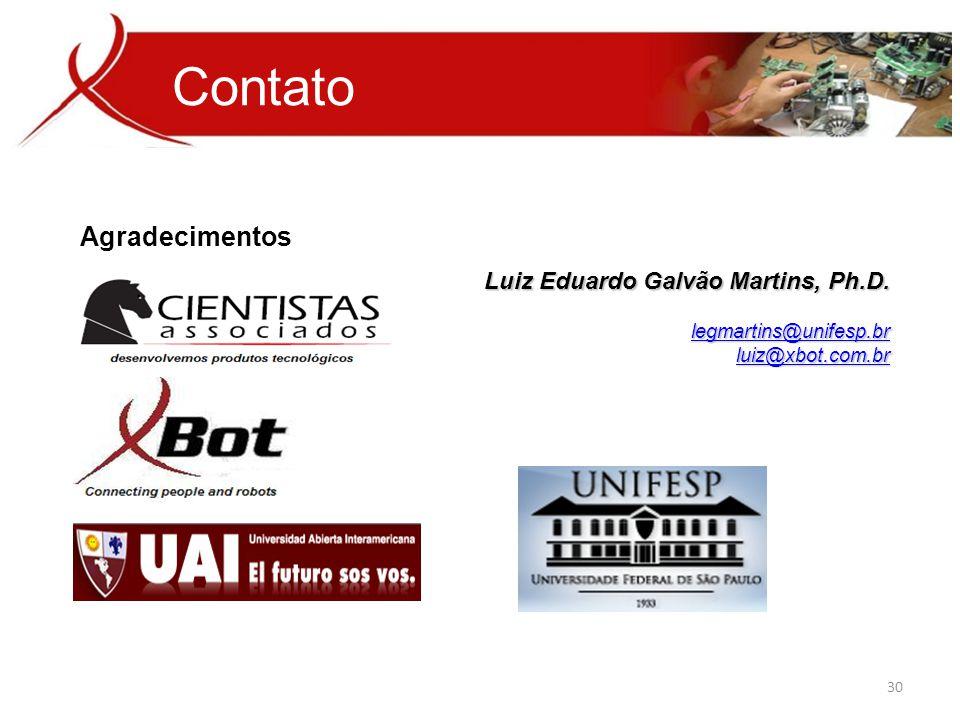 Contato Agradecimentos Luiz Eduardo Galvão Martins, Ph.D.