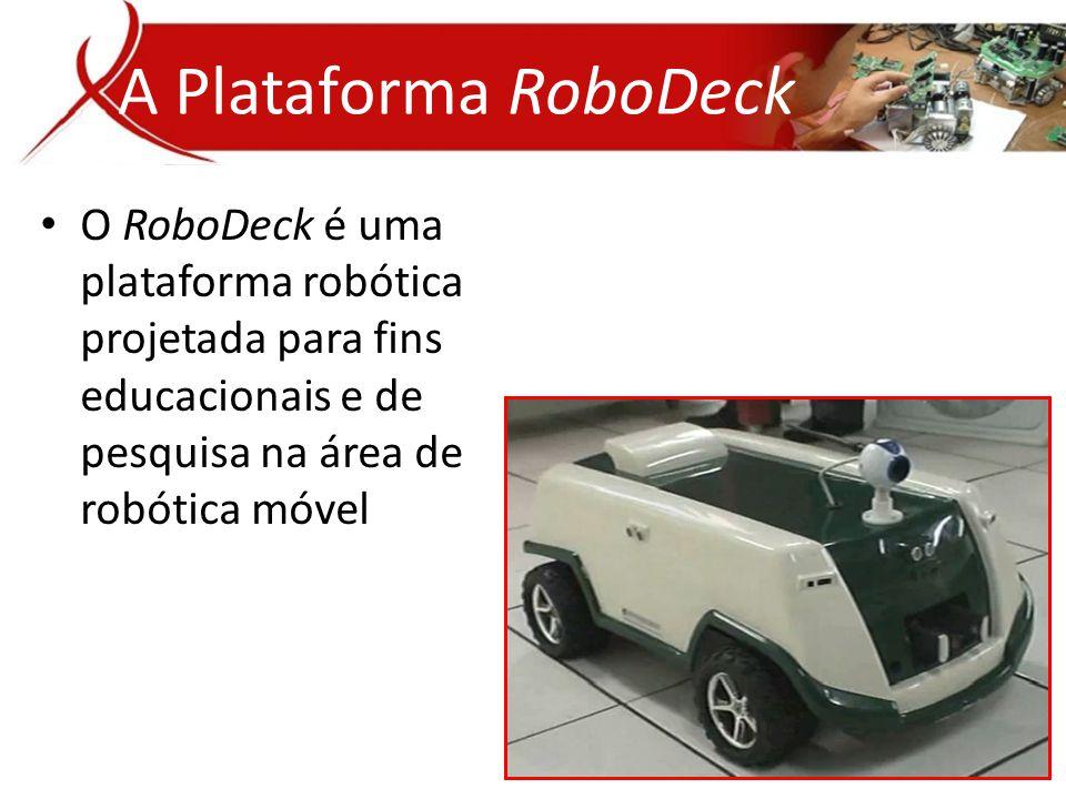 A Plataforma RoboDeck O RoboDeck é uma plataforma robótica projetada para fins educacionais e de pesquisa na área de robótica móvel.