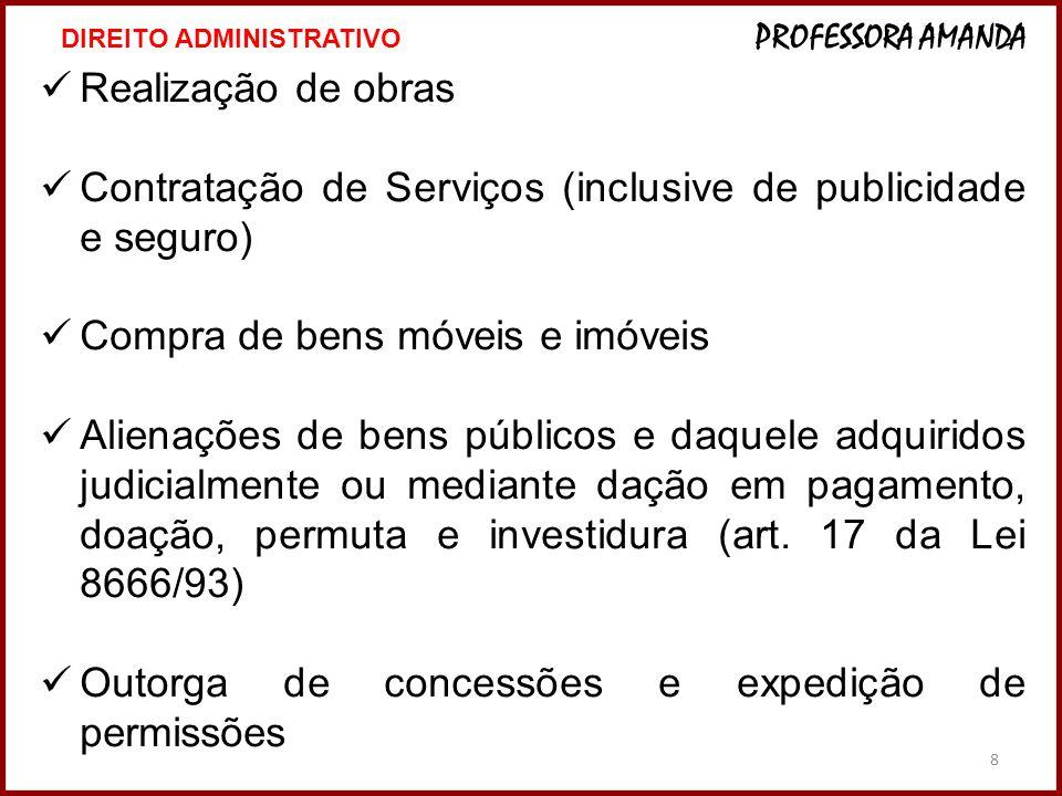 Contratação de Serviços (inclusive de publicidade e seguro)