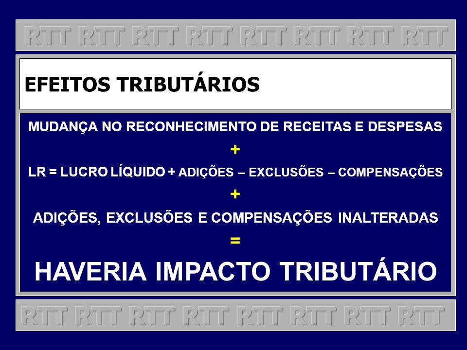 HAVERIA IMPACTO TRIBUTÁRIO