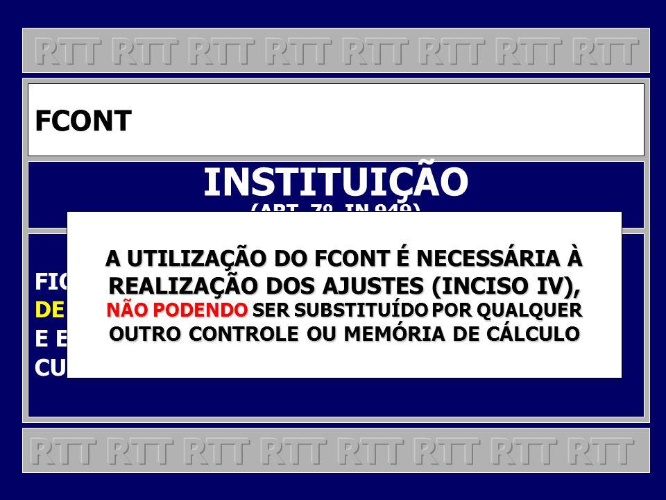 INSTITUIÇÃO RTT RTT RTT RTT RTT RTT RTT RTT