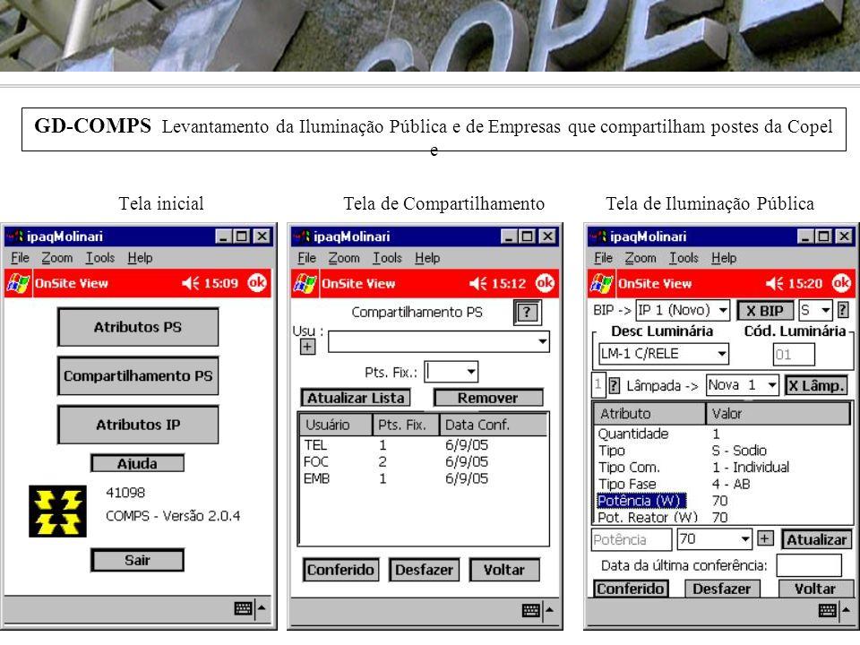 GD-COMPS Levantamento da Iluminação Pública e de Empresas que compartilham postes da Copel e