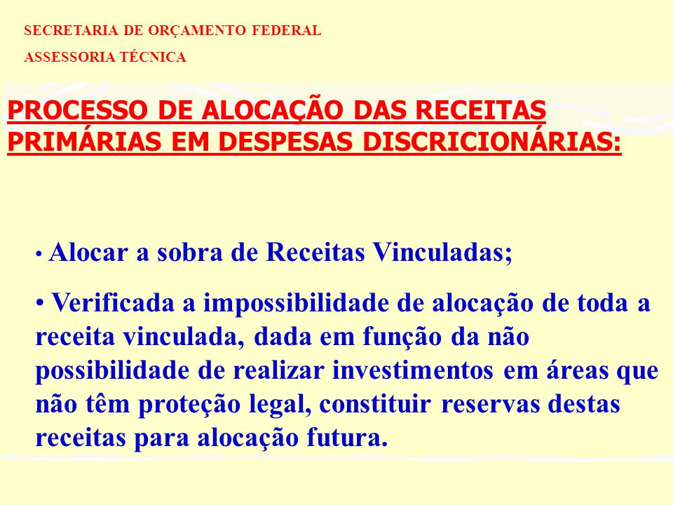 SECRETARIA DE ORÇAMENTO FEDERAL