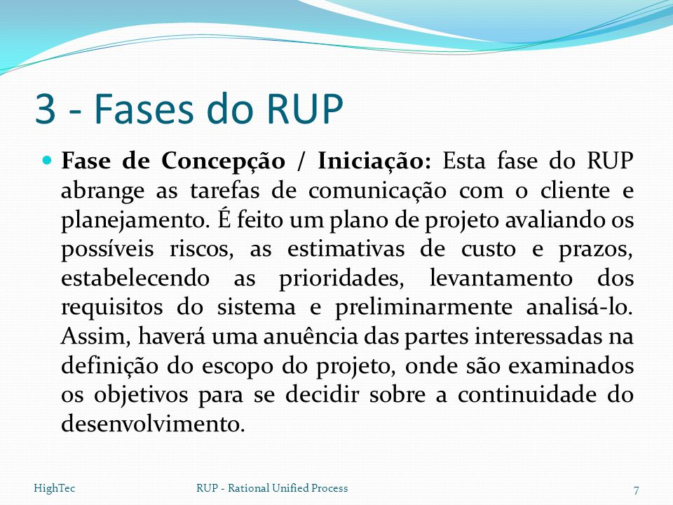 3 - Fases do RUP