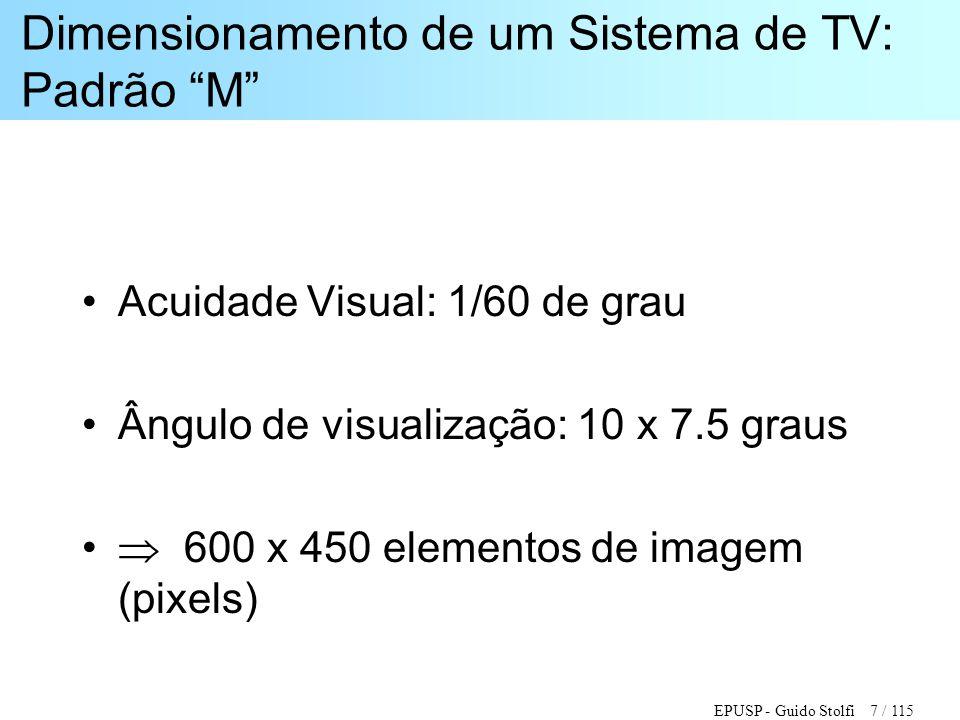 Dimensionamento de um Sistema de TV: Padrão M