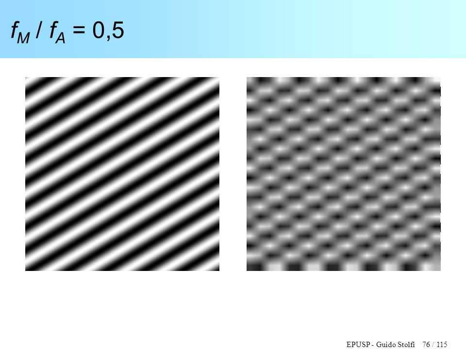 fM / fA = 0,5
