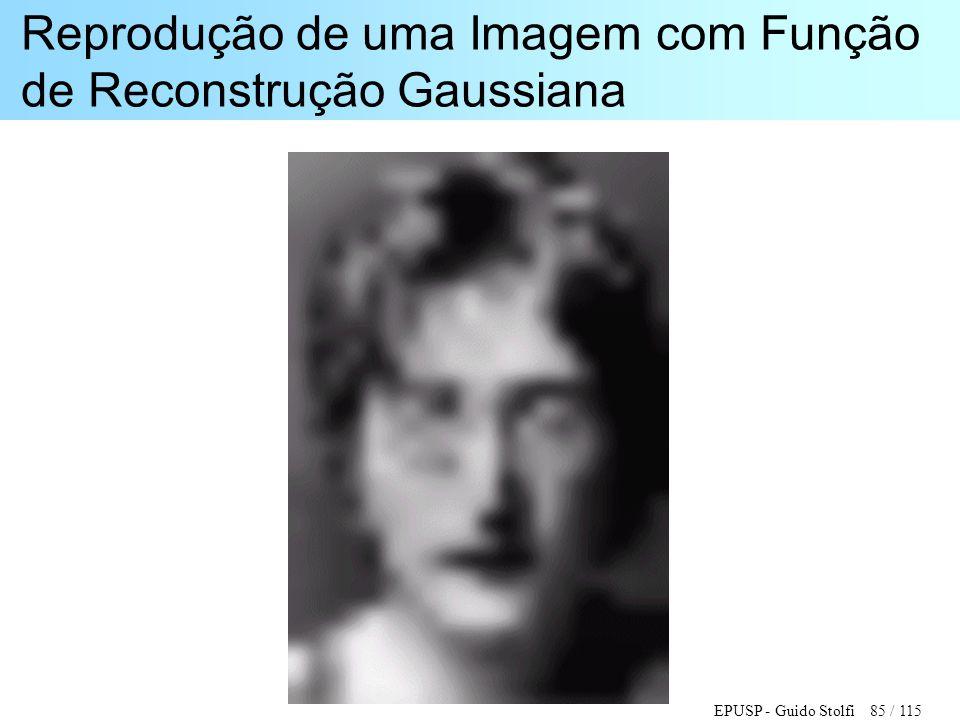 Reprodução de uma Imagem com Função de Reconstrução Gaussiana