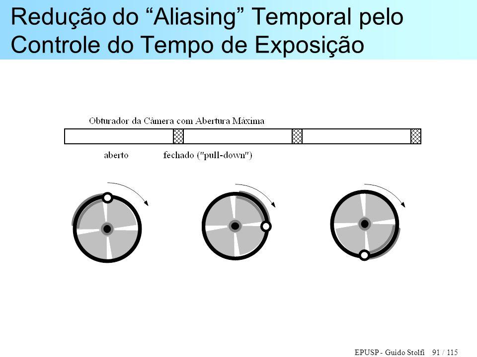 Redução do Aliasing Temporal pelo Controle do Tempo de Exposição