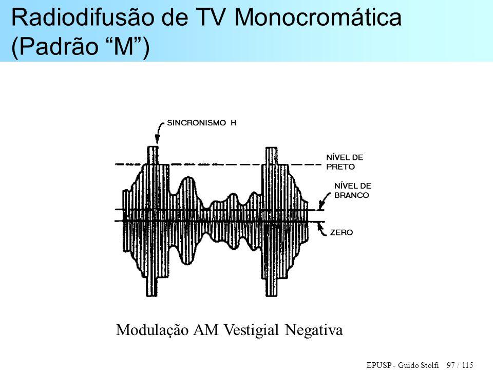 Radiodifusão de TV Monocromática (Padrão M )