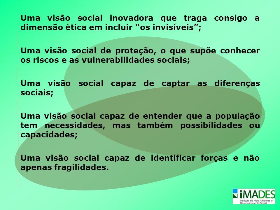 Uma visão social inovadora que traga consigo a dimensão ética em incluir os invisíveis ;