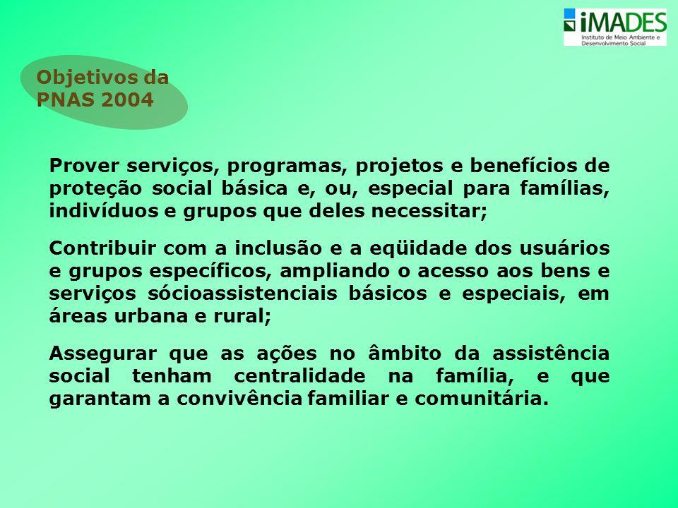 Objetivos da PNAS 2004