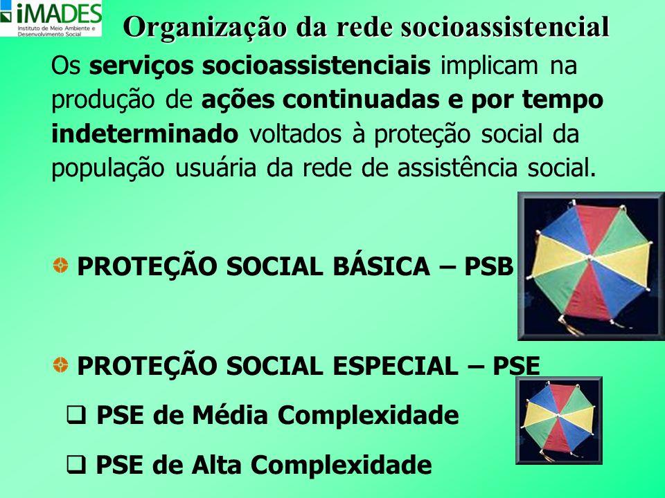 Organização da rede socioassistencial