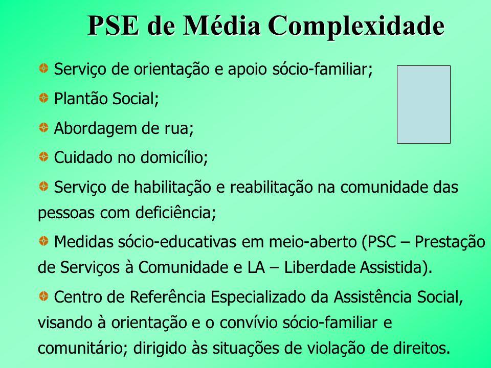 PSE de Média Complexidade