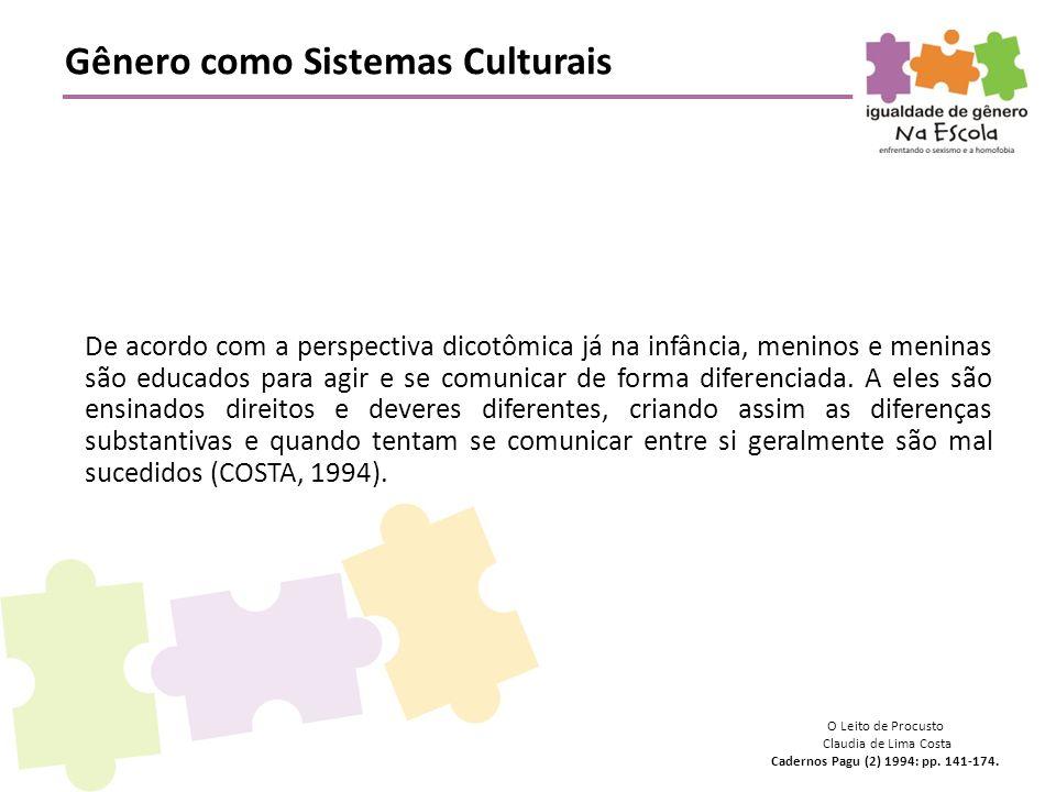 Gênero como Sistemas Culturais