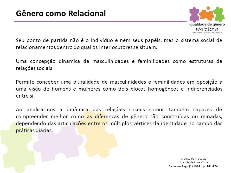 Gênero como Relacional