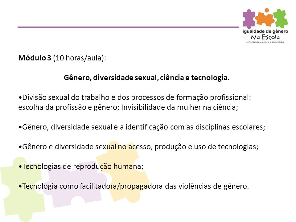 Gênero, diversidade sexual, ciência e tecnologia.
