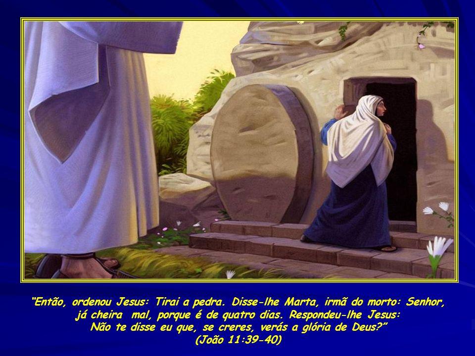 Então, ordenou Jesus: Tirai a pedra
