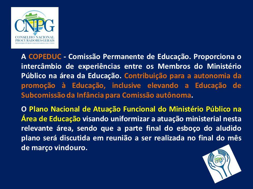 A COPEDUC - Comissão Permanente de Educação