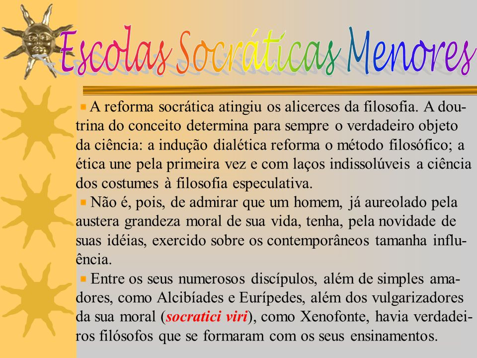 Escolas Socráticas Menores