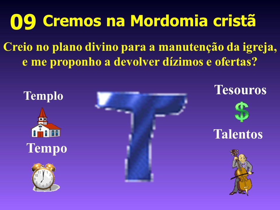 Cremos na Mordomia cristã