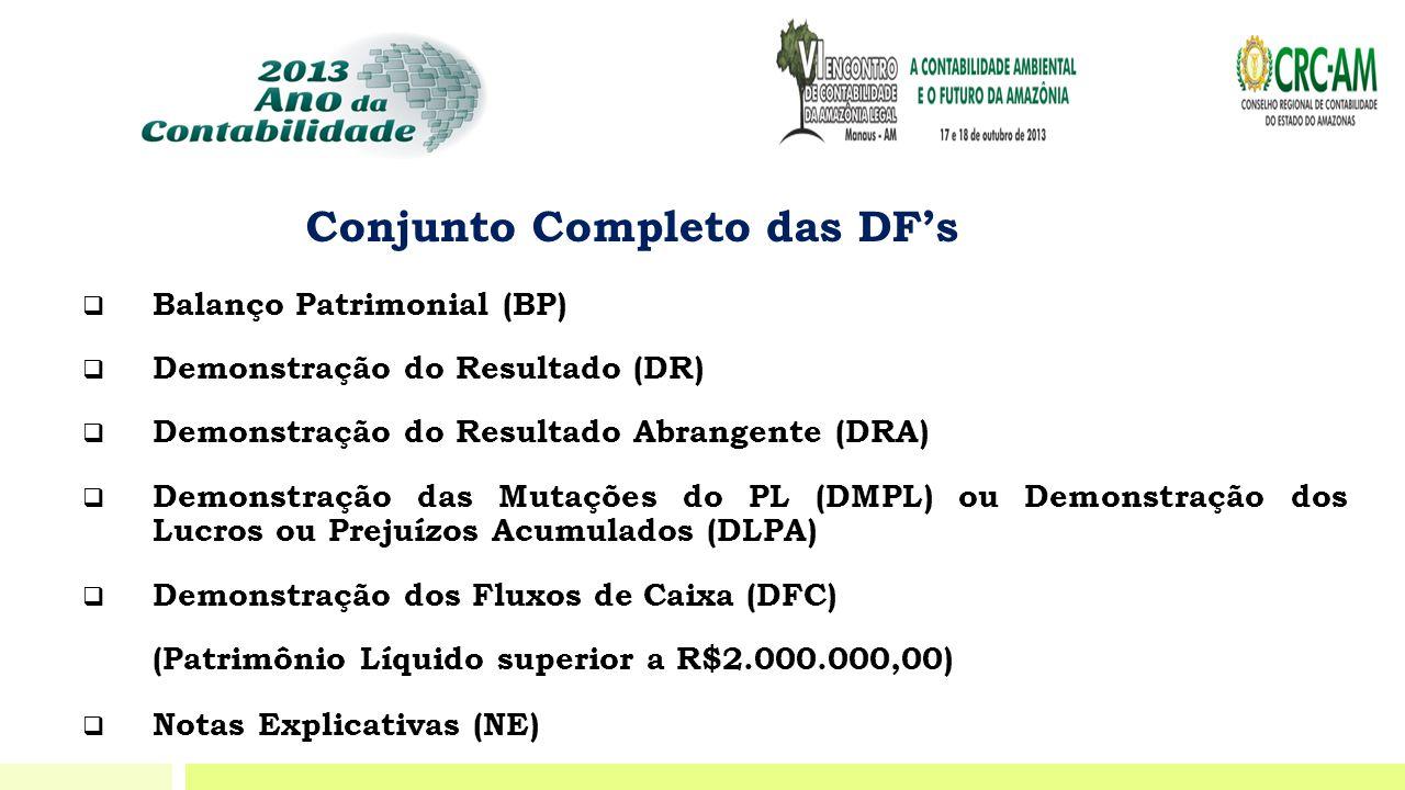 Conjunto Completo das DF's