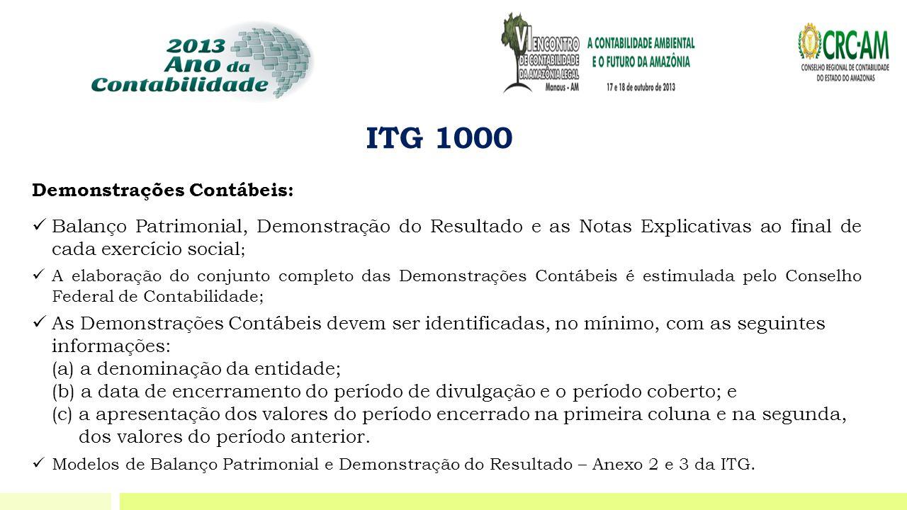 ITG 1000 Demonstrações Contábeis: