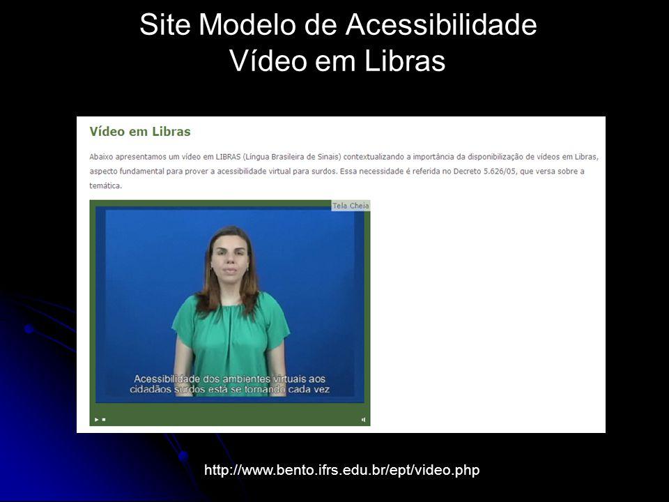 Site Modelo de Acessibilidade Vídeo em Libras