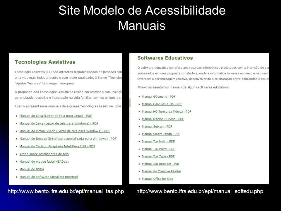Site Modelo de Acessibilidade Manuais