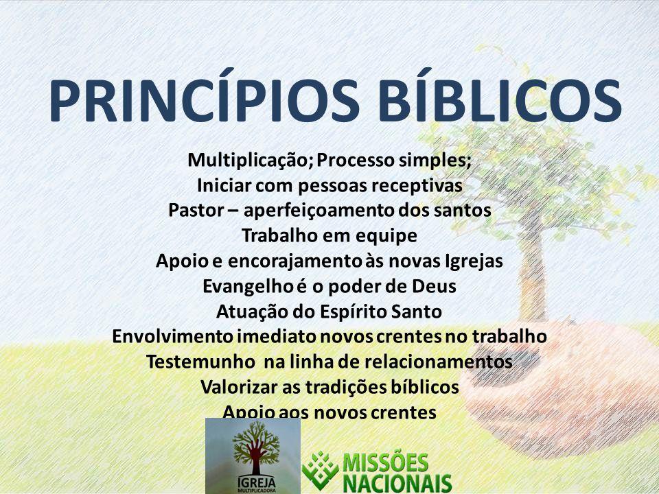 PRINCÍPIOS BÍBLICOS Multiplicação; Processo simples;