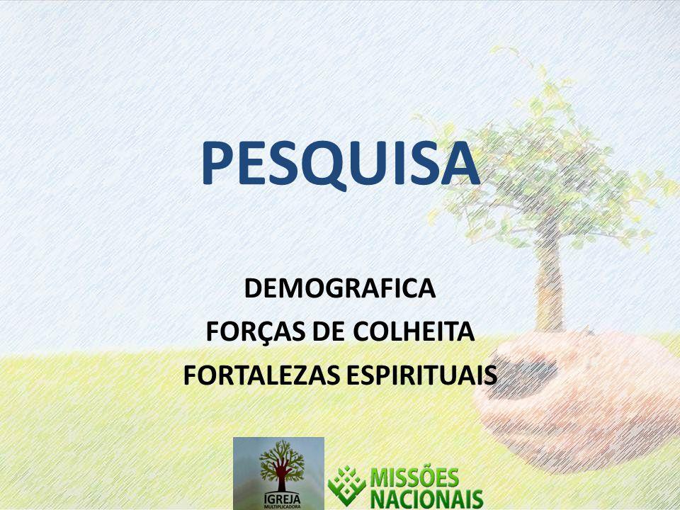 DEMOGRAFICA FORÇAS DE COLHEITA FORTALEZAS ESPIRITUAIS