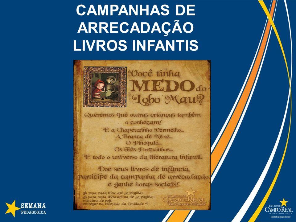 CAMPANHAS DE ARRECADAÇÃO LIVROS INFANTIS