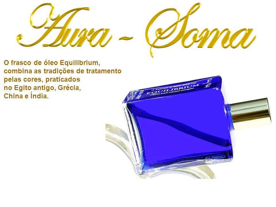 O frasco de óleo Equilibrium, combina as tradições de tratamento pelas cores, praticados