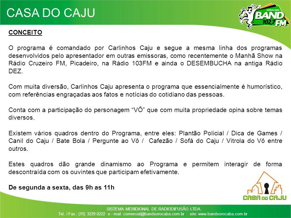CASA DO CAJU CONCEITO.