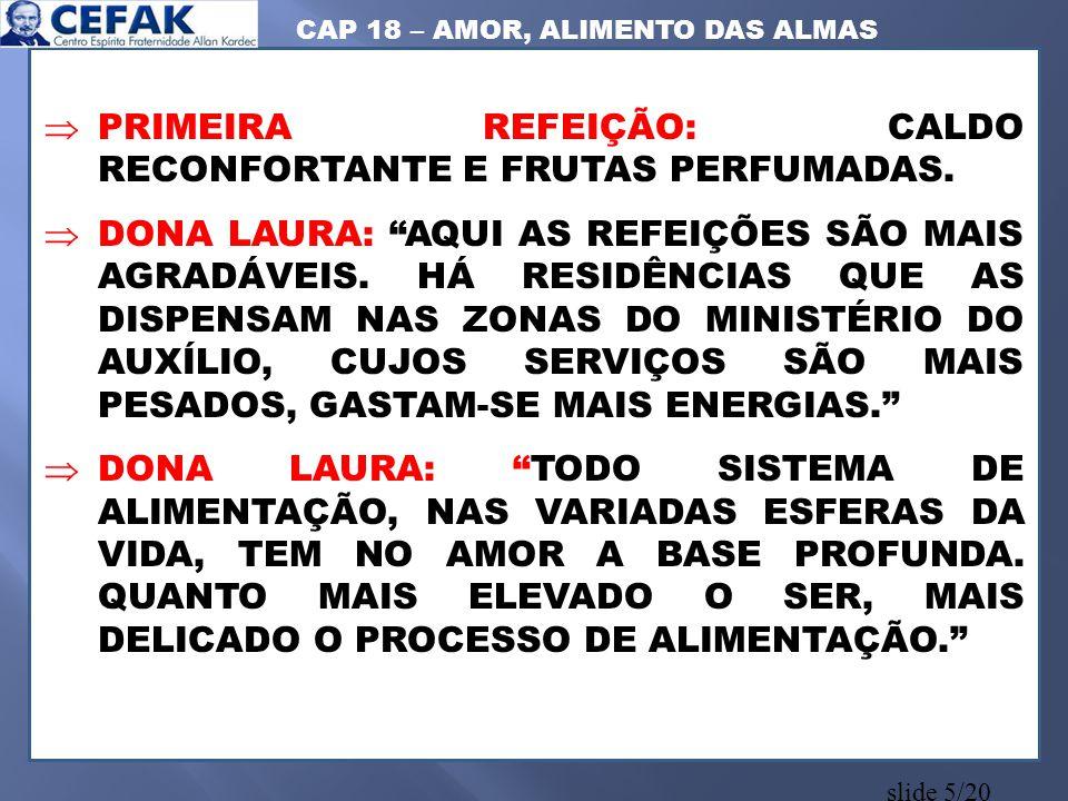 CAP 18 – AMOR, ALIMENTO DAS ALMAS