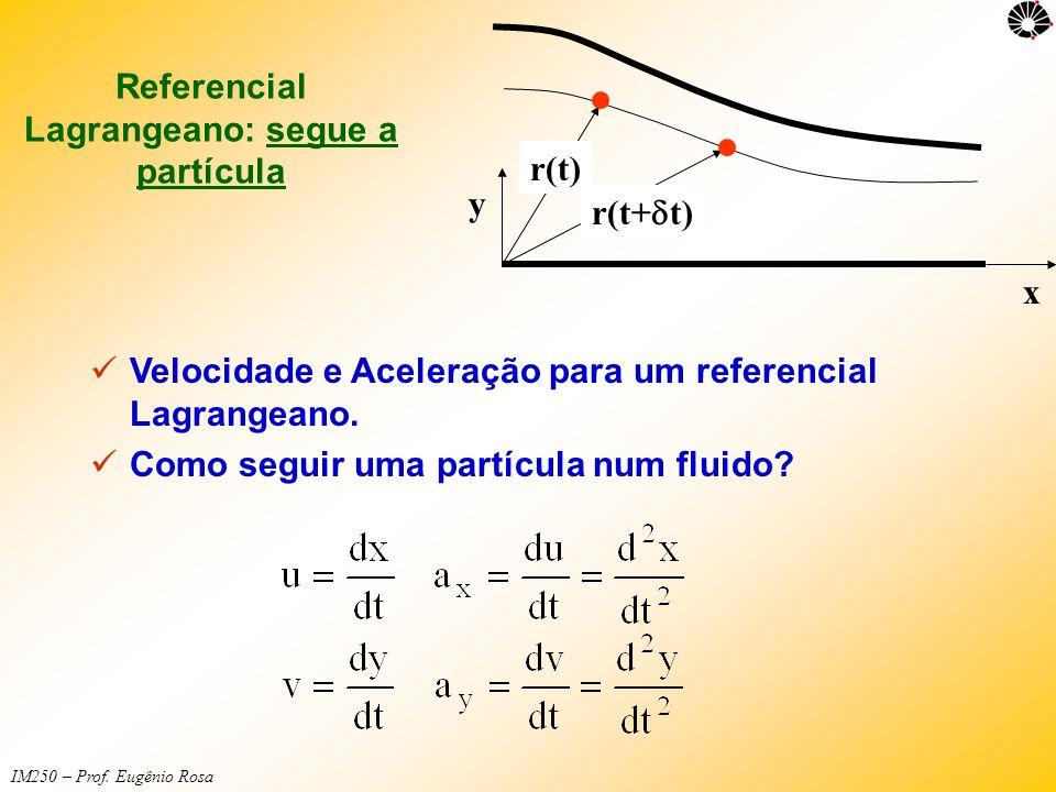 Referencial Lagrangeano: segue a partícula