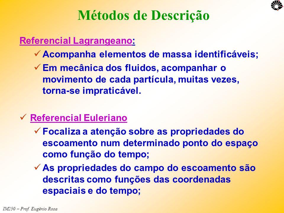 Métodos de Descrição Referencial Lagrangeano: