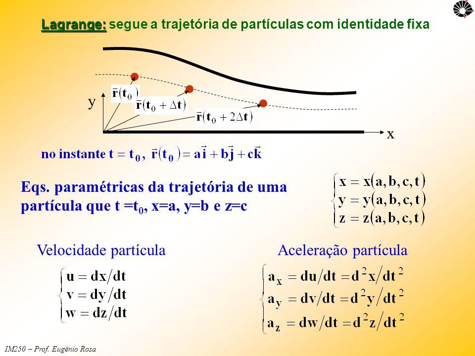 Lagrange: segue a trajetória de partículas com identidade fixa