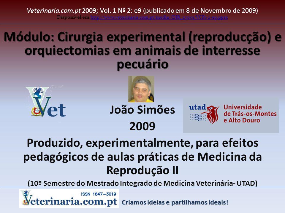 (10º Semestre do Mestrado Integrado de Medicina Veterinária- UTAD)