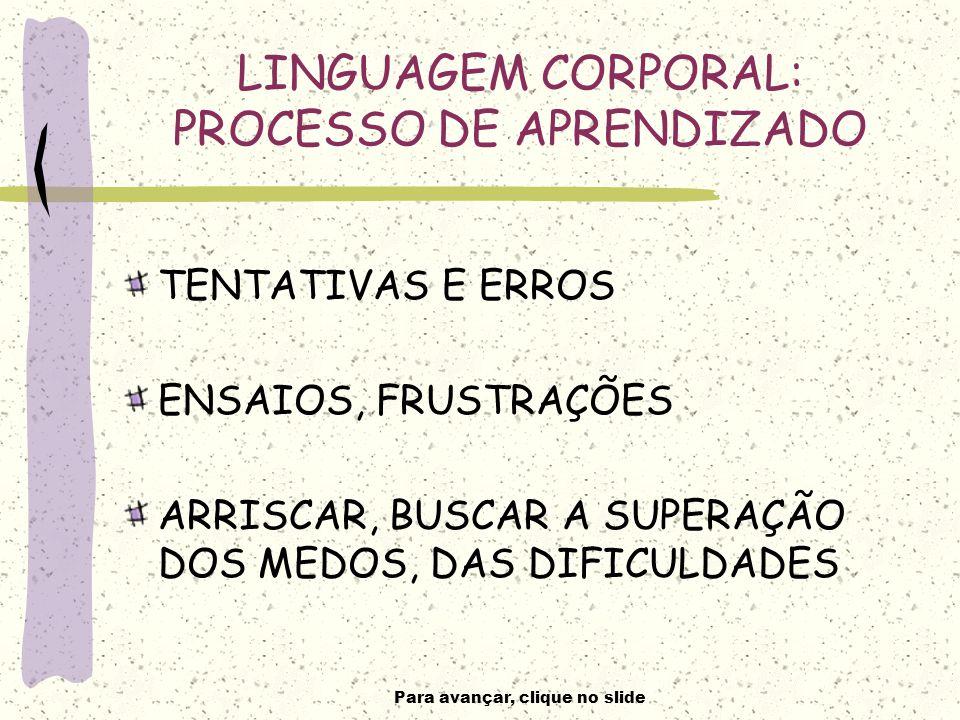 LINGUAGEM CORPORAL: PROCESSO DE APRENDIZADO