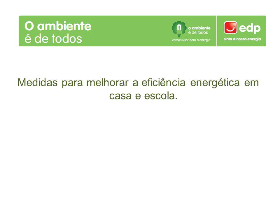Medidas para melhorar a eficiência energética em casa e escola.
