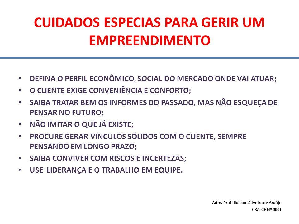 CUIDADOS ESPECIAS PARA GERIR UM EMPREENDIMENTO