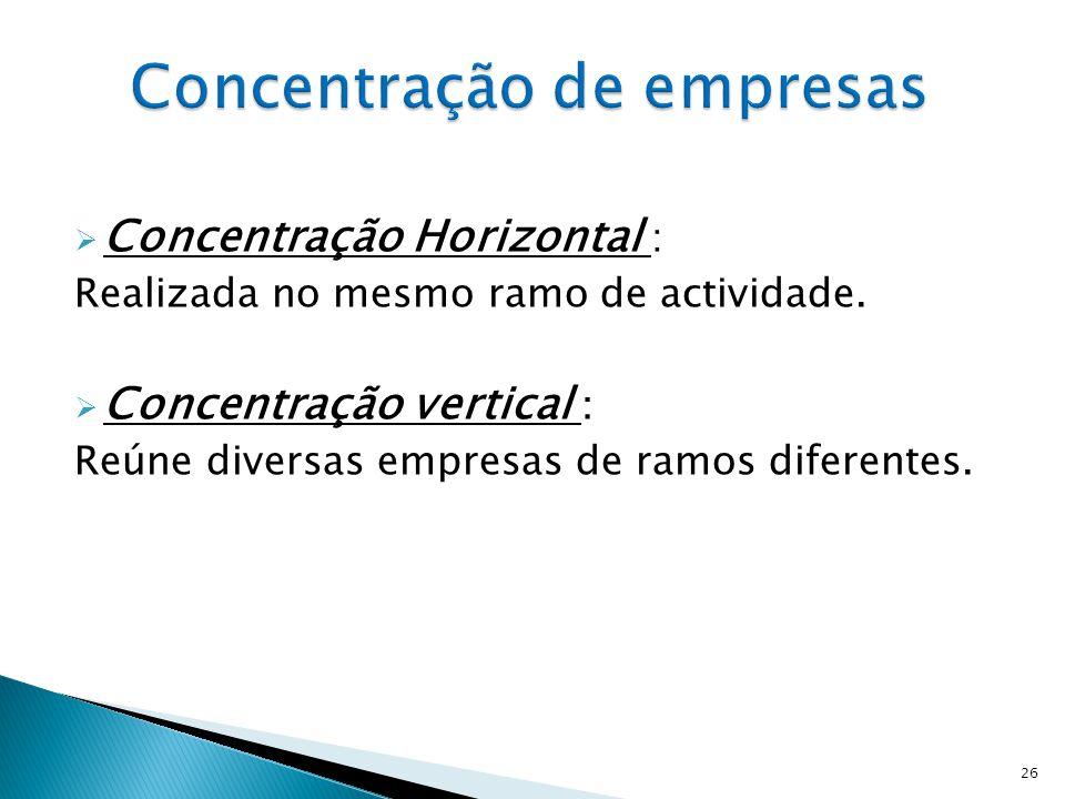 Concentração de empresas