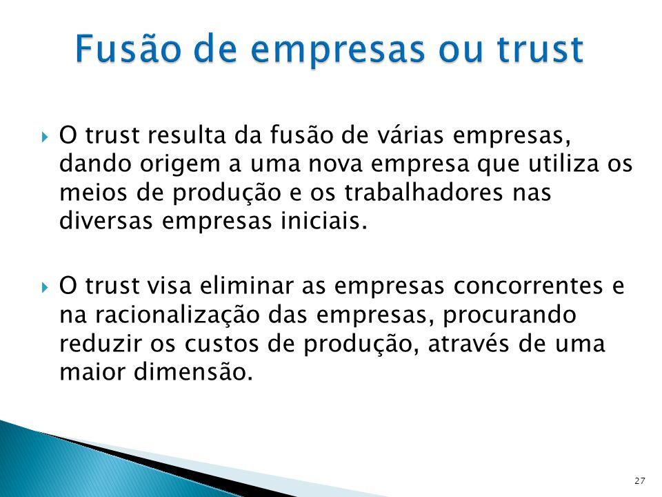 Fusão de empresas ou trust