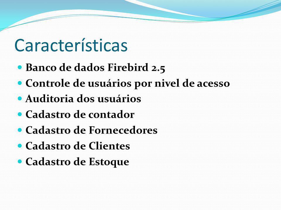 Características Banco de dados Firebird 2.5