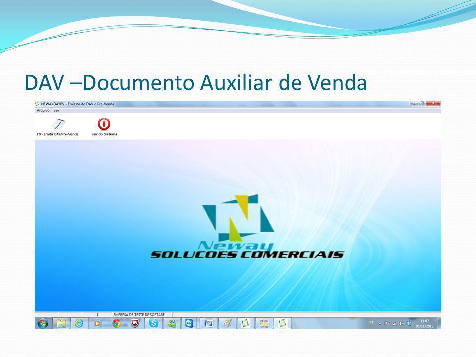 DAV –Documento Auxiliar de Venda