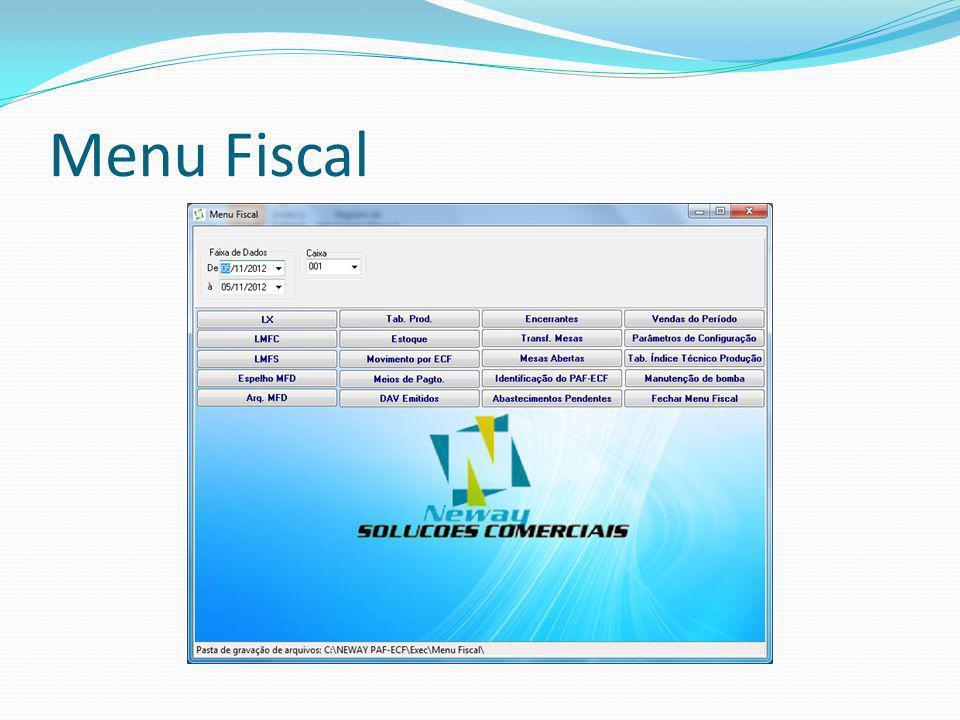Menu Fiscal