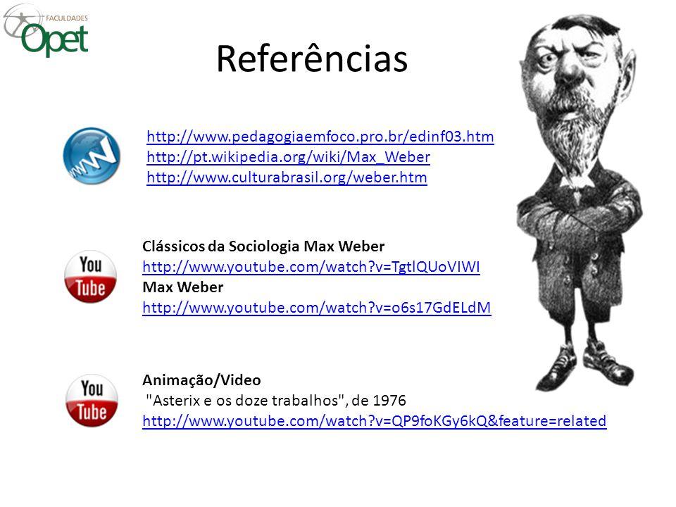 Referências http://www.pedagogiaemfoco.pro.br/edinf03.htm